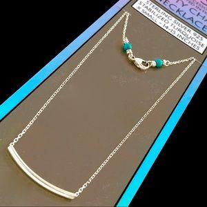Island Sunset Artisan Sterling bar necklace